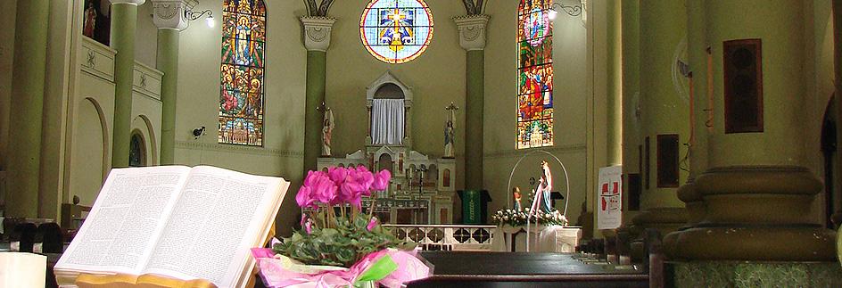 Brusque - Detalhe interior da Igreja Nossa Senhora de Azambuja