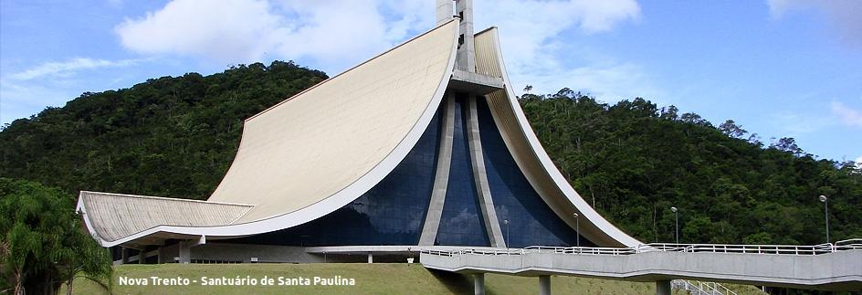 Nova Trento - Basílica Sta. Paulina com legenda
